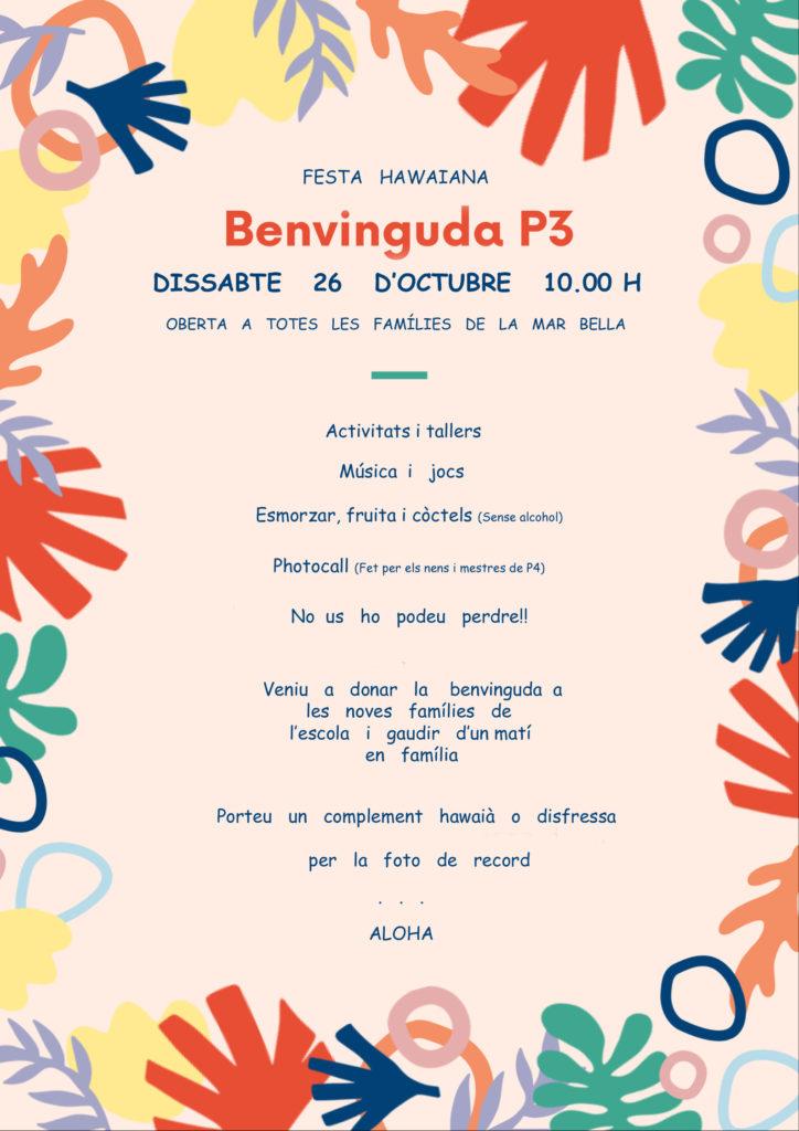 Festa benvinguda P3